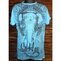 Tee shirt éléphant bleu