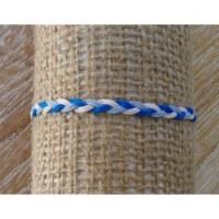Bracelet tressé blanc et bleu 8