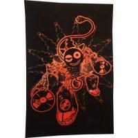 Tenture toonz system noir et orange
