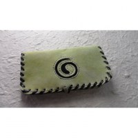 Blague à tabac vert pistache spirale noire