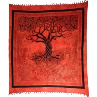 Tenture maxi arbre de vie celtique orange 2