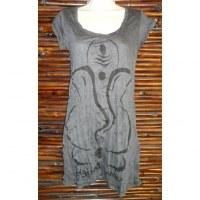 Mini robe grise éléphant abstrait