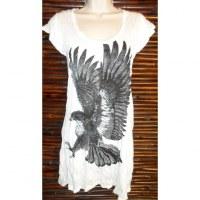 Mini robe blanche aigle