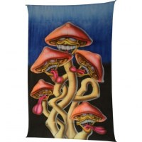 Tenture fluo les champignons loufoques
