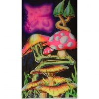 Tenture fluo mushrooms