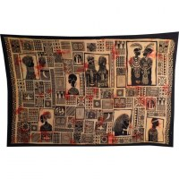Tenture patchwork africa orange