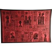Tenture patchwork africa rouge