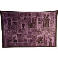 Tenture patchwork africa violet