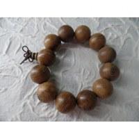 Bracelet tibétain grosses perles en bois