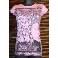 Tee shirt rose Bouddha
