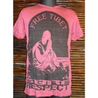 Tee shirt Tibet libre bordeaux