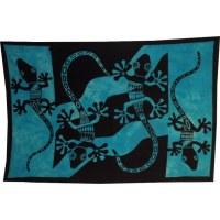 Tenture abstract salamandres bleue