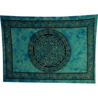 Tenture cercle celte bleu