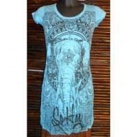 Mini robe bleue éléphant