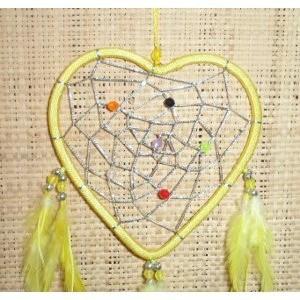 Attrape rêve love dream jaune