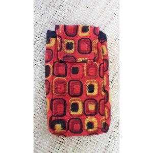 Pochette portable square rouge color