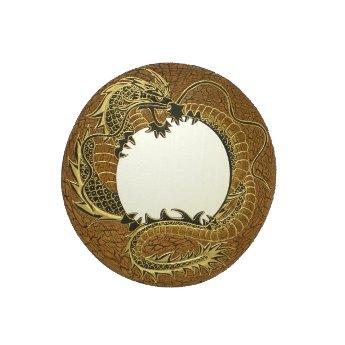 Miroir dragon d'or
