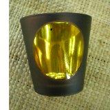 Photophore verre jaune