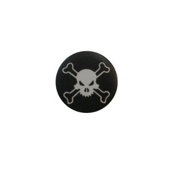 Badge Tête de mort dentée