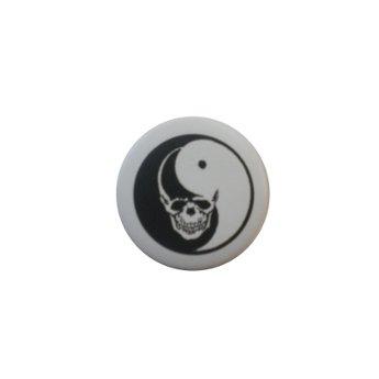Badge tête de mort yin yang