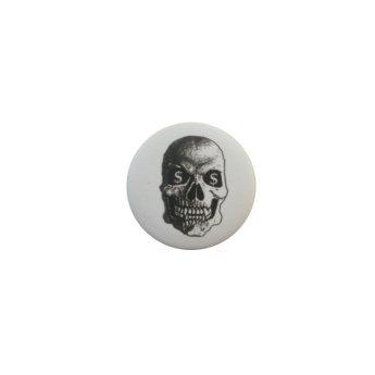 Badge tête de mort dollars