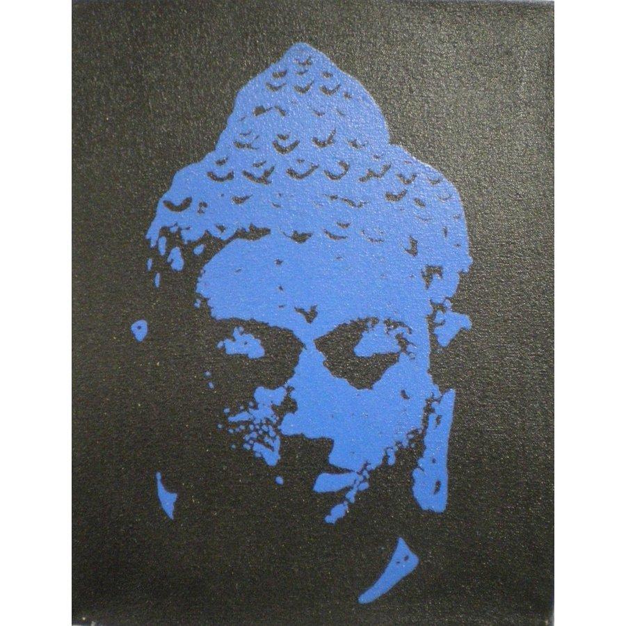 Petit tableau bleu Bouddha le bienveillant