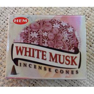 Cônes d'encens musc blanc
