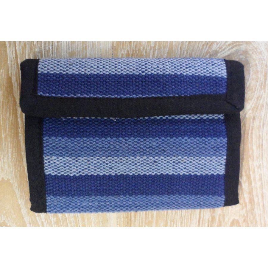 Portefeuille weaving bleu