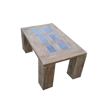 Table basse vitr e et c rus e for Table basse vitree