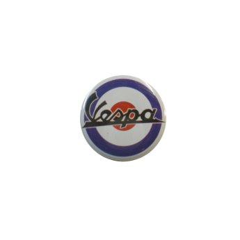 Badge petit Vespa noir sur fond bleu blanc rouge