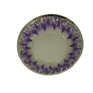 Miroir rond mosaïque parme