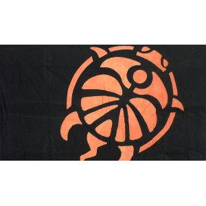 Tenture 3 tortues oranges