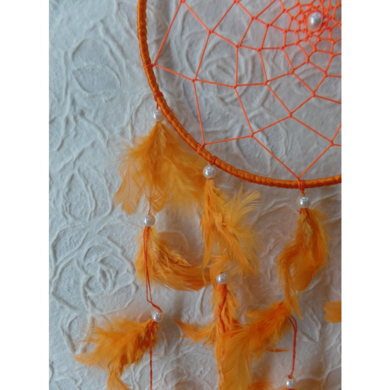 Attrape rêves kamuhu orange vif