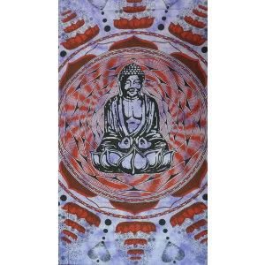 Maxi tenture lotus Bouddha mauve