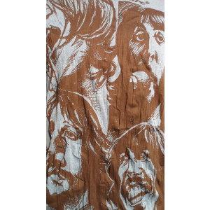 Tee shirt L les Beatles bleu
