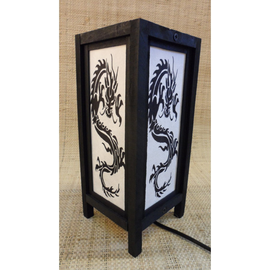 lampe dragon asiatique blanche. Black Bedroom Furniture Sets. Home Design Ideas