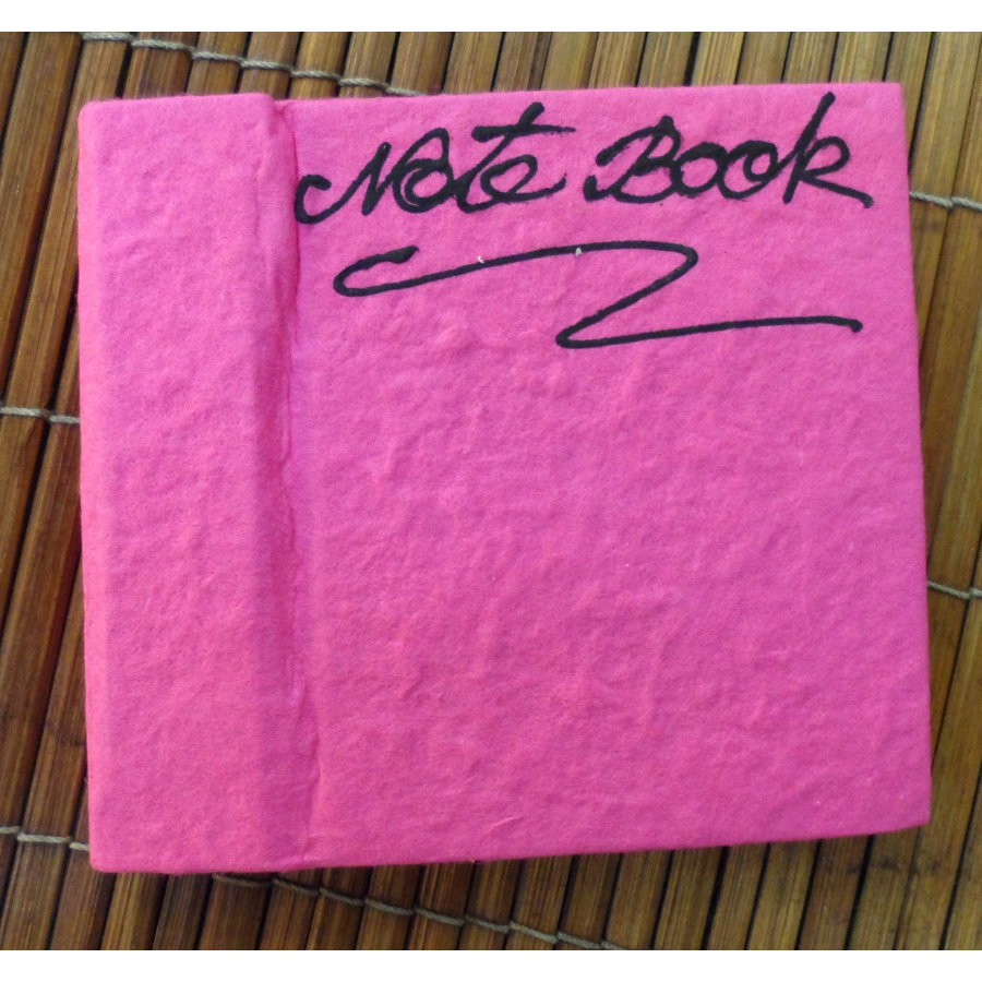 Petit carnet rose papier naturel