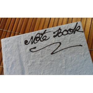 Petit carnet bleu clair papier naturel