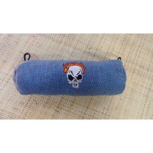 Trousse tête de mort bleue