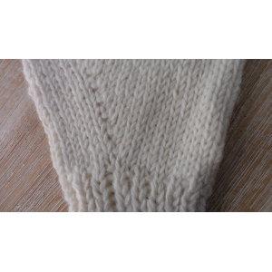 Mitaines en laine écrue