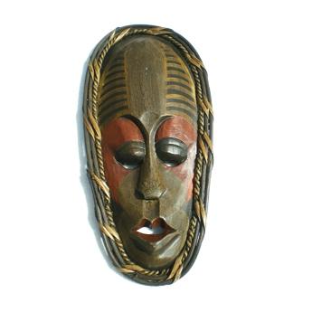 Masque rouge rayé