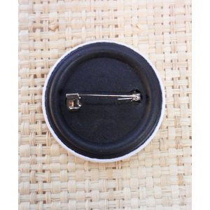 Badge noir Yin Yang ovale