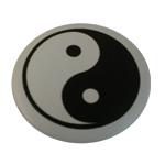 Badge Yin Yang Fond blanc