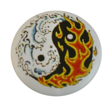 Badge Yin Yang Le Feu et l'Eau