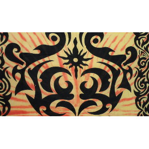 Tenture tribal tatoo orange/jaune