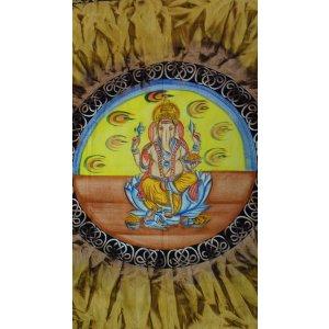 Tenture Ganapati dans un lotus