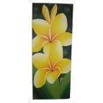 Tableau floral frangipanier pm jaune