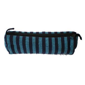 Trousse rayée marine et bleu