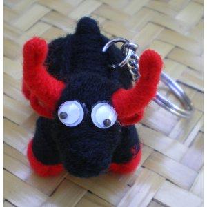 Porte clés taureau noir