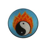 Ecusson yin yang flamme